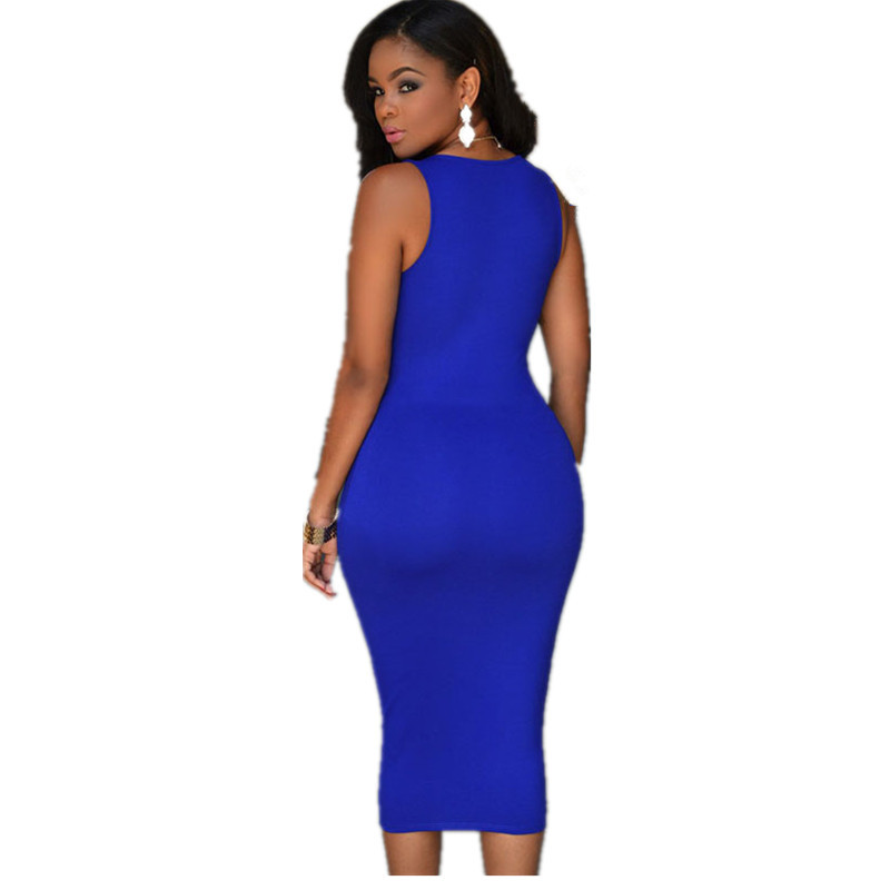 Aliexpress.com : Buy 2016 New Style Royal Blue Zip Front Dress ...