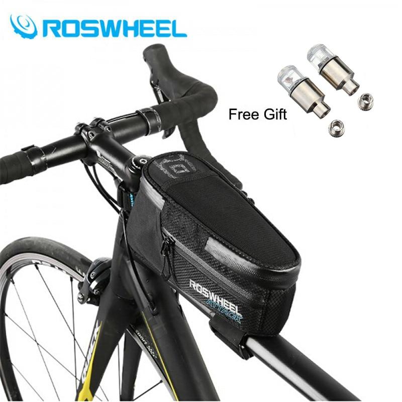 ROSWHEEL 2018 Nouveau 1.5L De Cadre Tête Avant Top Tube 100% Étanche Vélo Sac Vélo Pour Téléphone Accessoires De Vélo