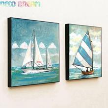 купить Diy Full Resin Round Diamond Painting Rhinestones Embroidery Kit Sailboat Concise Style Cartoon Mosaic Decor As Good Hobby Gift дешево