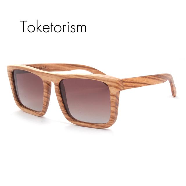 Урожай polaroid прямоугольник зебра woodies древесины oculo de sol óculos masculino feminino 4103