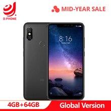 Turchia 3 ~ 7 Giorni di Lavoro Globale Versione Xiaomi Redmi Nota 6 Pro 4 GB 64 GB Snapdragon 636 Octa core a Schermo Intero 4000 mAh Smartphone