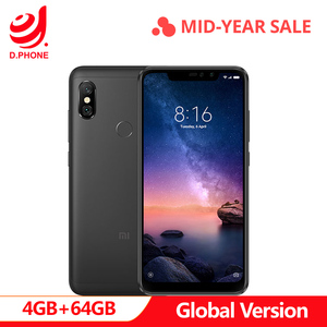 Image 1 - Turkey 3~7 Work Days Global Version Xiaomi Redmi Note 6 Pro 4GB 64GB Snapdragon 636 Octa Core Full Screen 4000mAh Smartphone