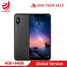 Turquia 3 ~ 7 Dias de Trabalho Global Versão 6 Pro 4 GB 64 GB Snapdragon Xiaomi Redmi Nota 636 Octa núcleo Tela do Smartphone 4000 mAh Completo