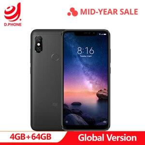 Image 1 - Turquia 3 ~ 7 Dias de Trabalho Global Versão 6 Pro 4 GB 64 GB Snapdragon Xiaomi Redmi Nota 636 Octa núcleo Tela do Smartphone 4000 mAh Completo