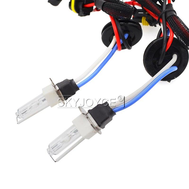SKYJOYCE 12V 35W AC HID Xenon Conversion Kit Slim Ballast Ceramics HID Xenon bulb H3C 3000K 4300K 6000K 8000K Car Headlight Kit (3)