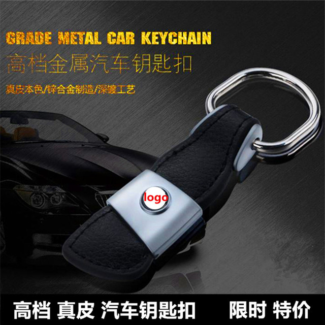 Leather Car Keychain Keyring Key Rings Chain S Line Sline logo for Audi A3 A4L A5 A6L A7 Q3 Q5 Q7 TT S3 S5 S7 Car Accessories