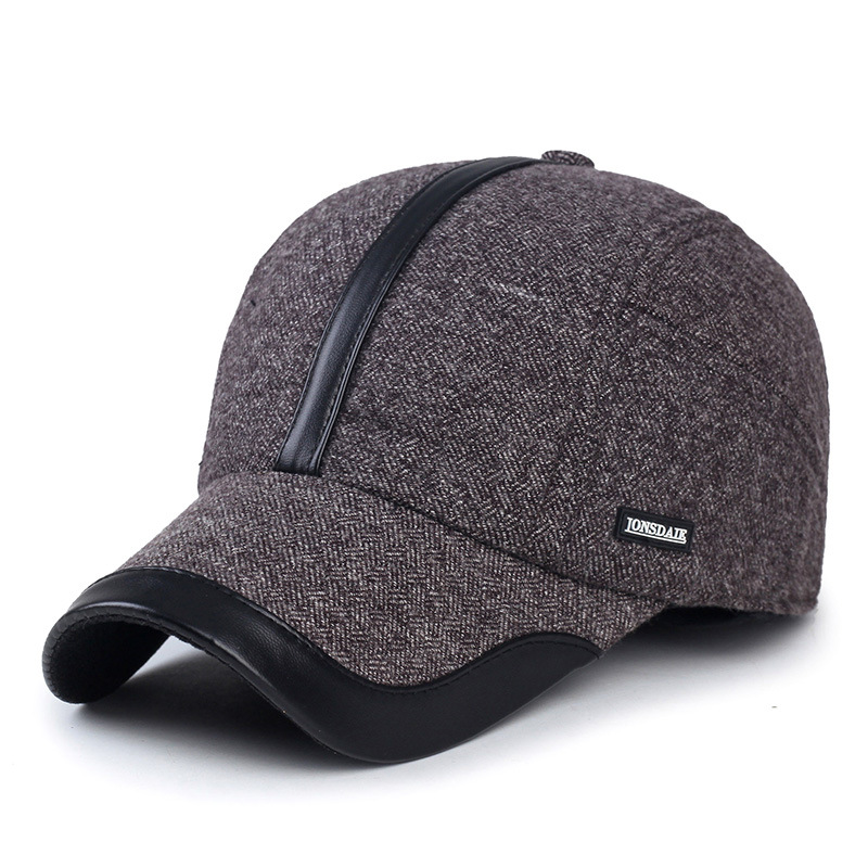 100% cotton thick ear protection baseball cap keep warm winter hat male sport cold autumn outdoor caps