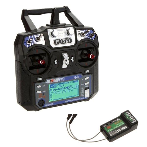 FlySky FS-i6 2.4G 6CH AFHDS RC Transmitter With FS-iA6B Receiver Eachine Racer 250 Quadcopter Airplane flysky fs i6s 2 4g 6ch afhds transmitter with fs ia6b receiver
