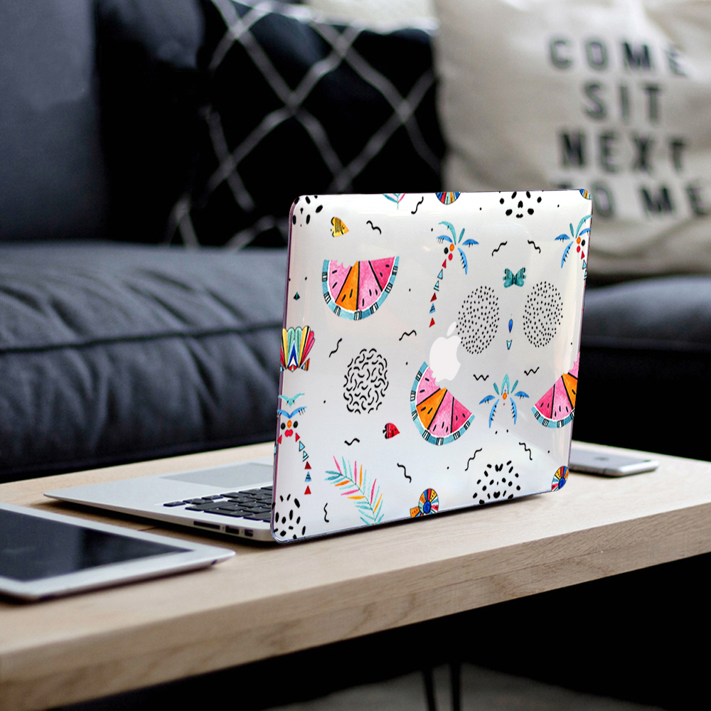 Plastic Hard Case Cover for MacBook 12 Air Pro Retina 11 13 15 for Mac Book New Pro 13.3 15.4 Touch Bar A2159 Summer Pattern-B030-Air 13 A1466 A1369