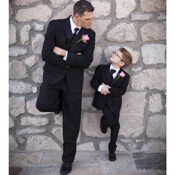 Classic Boys Suits for Wedding Black Boys Formal Suit Costumes for a Boy Kids Children's Blazer Clothes 2019 (Jacket+Pants+Vest) boys black blazer wedding suits for boy formal dress suit boys kids page outfits 5 pcs set gh461