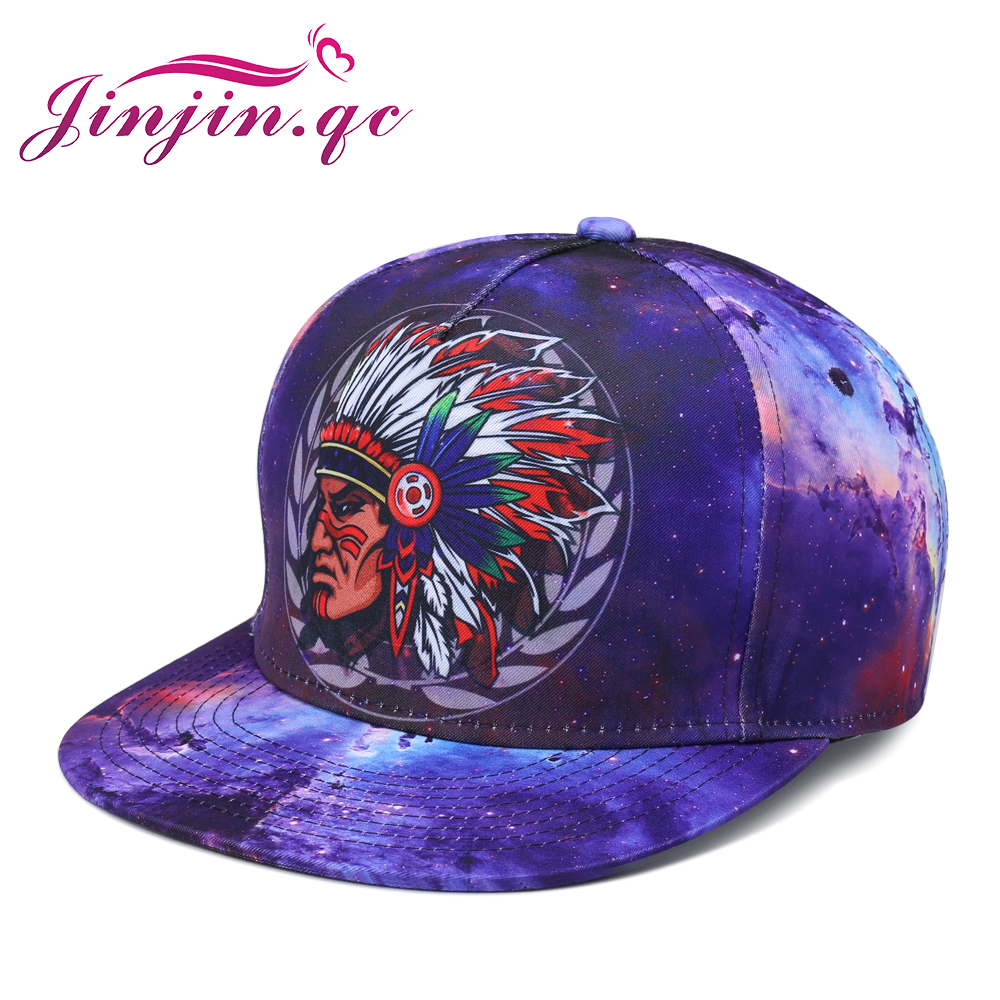 Jinjin.QC Color Printing Pattern Men Women Hat Hats Baseball Cap Fashion Trends Hip Hop Snapback Caps Bone mnkncl new fashion style neymar cap brasil baseball cap hip hop cap snapback adjustable hat hip hop hats men women caps