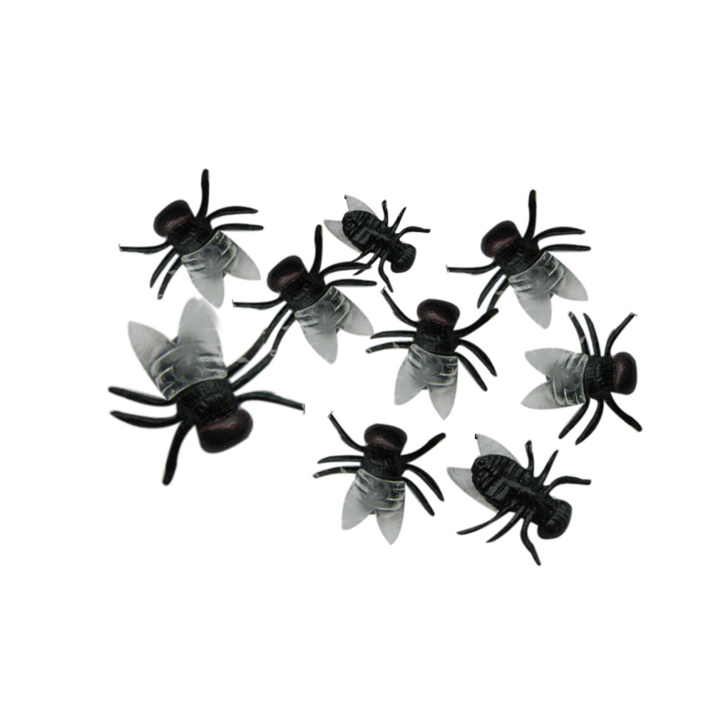 20 PC Halloween Plastic Flys Joking Toys Decoration Realistic drop shipping D815
