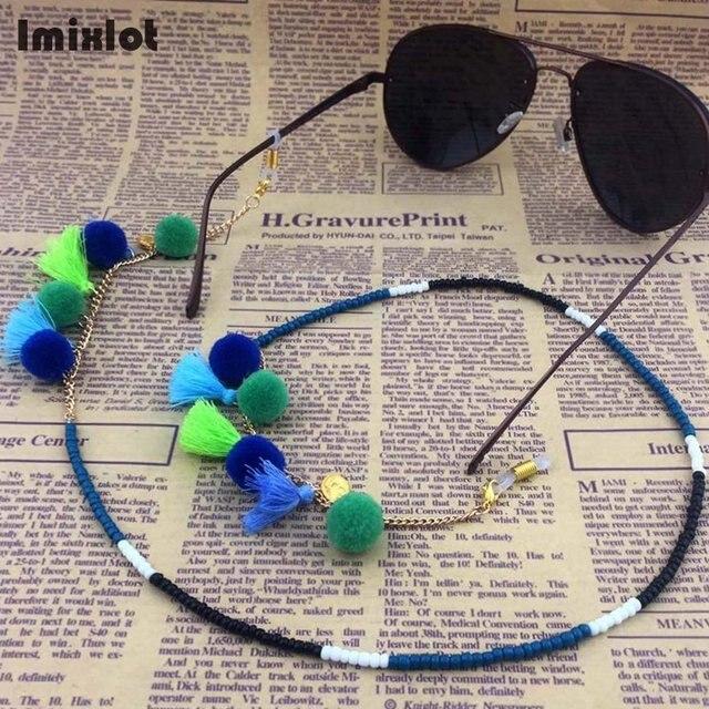 3d4b64e5e23342 Imixlot 1 Pièce Mix Styles Femmes Perles Lunettes Eyewears lunettes de Soleil  Lunettes de Lecture Chaîne
