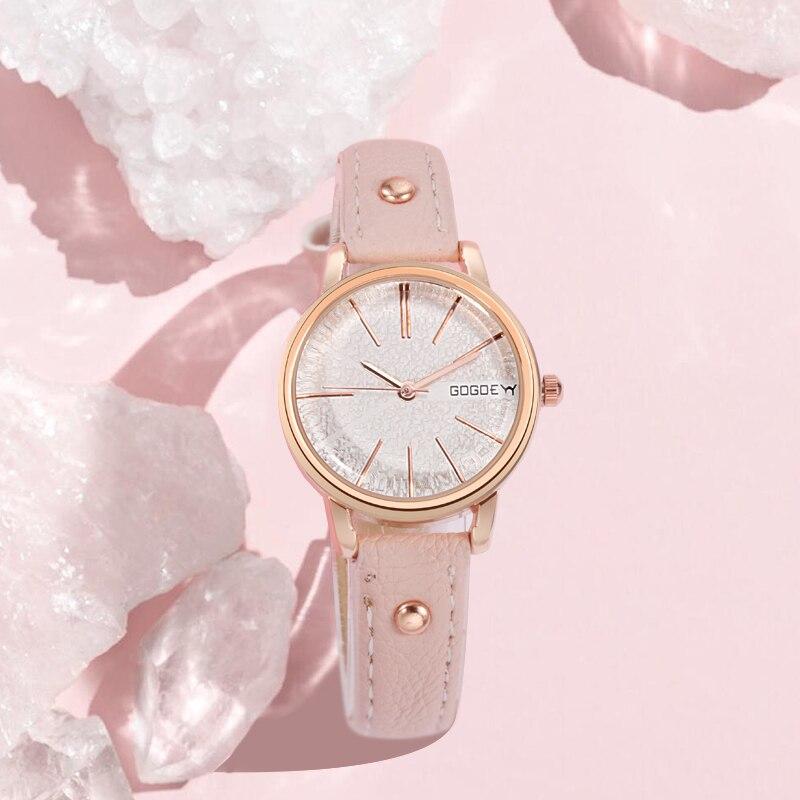 GoGoey Luxury reloj mujer Women Brand Rose Gold Watch Fashion Casual Crystal Dress Wristwatch Clock Ladies relogio feminino