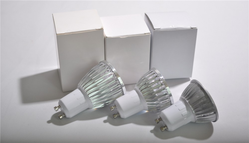Super Bright LED Gu10 Spotlight 3W 4W 5W GU10 LED Bulb 110V 220V Dimmable Warm/Cool White Free shipping