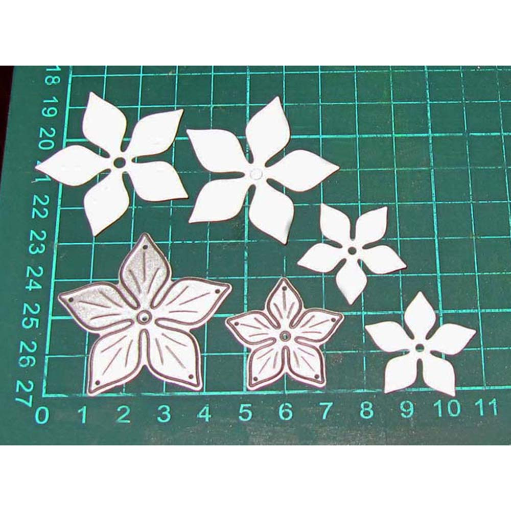 7.6x4.3cm Small Flowers Pattern Handcrafts Metal Cut Die Stencils Craft Embossing Knife Mold For Scrapbooking