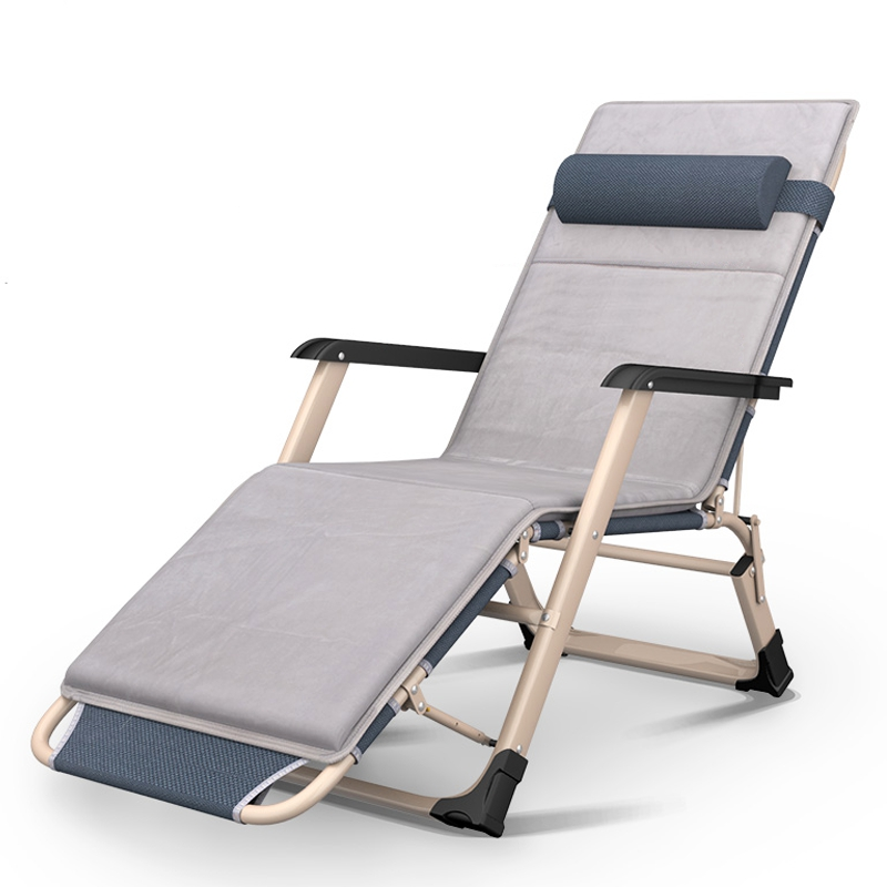 multifunction lounge chair with pillow adjustable office nap bed chair outdoor folding recliner patio pool sun loungers chair