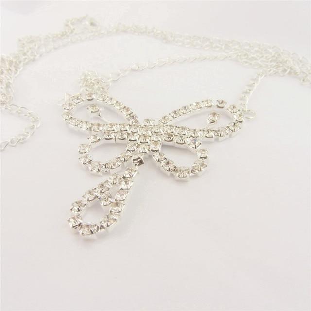 Rhinestone Butterfly America Body Chain2