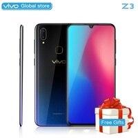 Мобильный телефон celular vivo Z3 Snapdragon 670/710AIE 16MP фронтальная камера LTE Android 8,1 4G/6G + 64G/128G 6,3 Экран смартфон