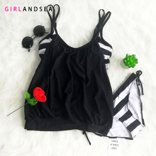 GIRLANDSEA New 2019 Low-waisted Bikini Set Striped Swimsuit