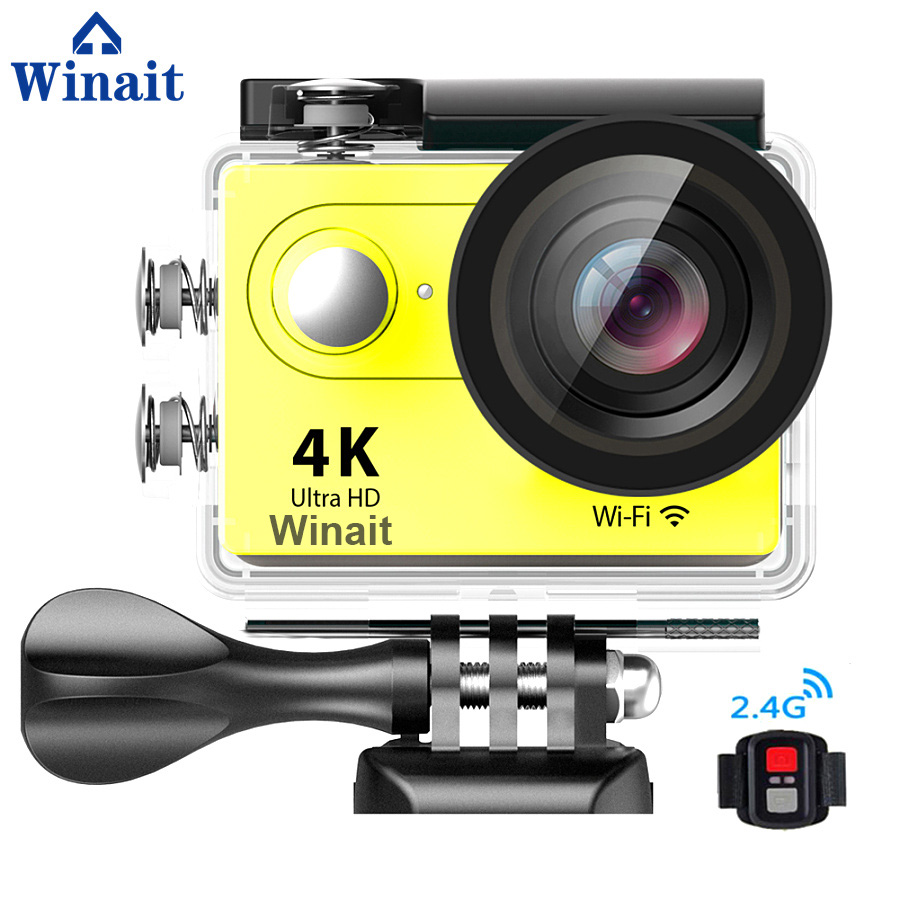 Winait Hot Sell Super 4K WIFI Digital Action Video Camera with 2.0'' TFT Display 170 Degree Wide Angel Sports Video Camera