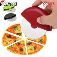Stainless Steel Pizza Wheels Knife Plastic Handle Round Shape Pizza Cutter Cake Bread Cutting Tools Baking Tools Bakeware Pizza Tools     -
