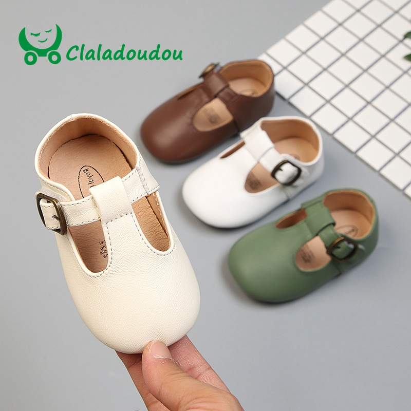 Claladoudou11.5-13.5cm genuine leather toddler baby leather shoes infant girls dress shoes green brown boys casual flats shoesClaladoudou11.5-13.5cm genuine leather toddler baby leather shoes infant girls dress shoes green brown boys casual flats shoes