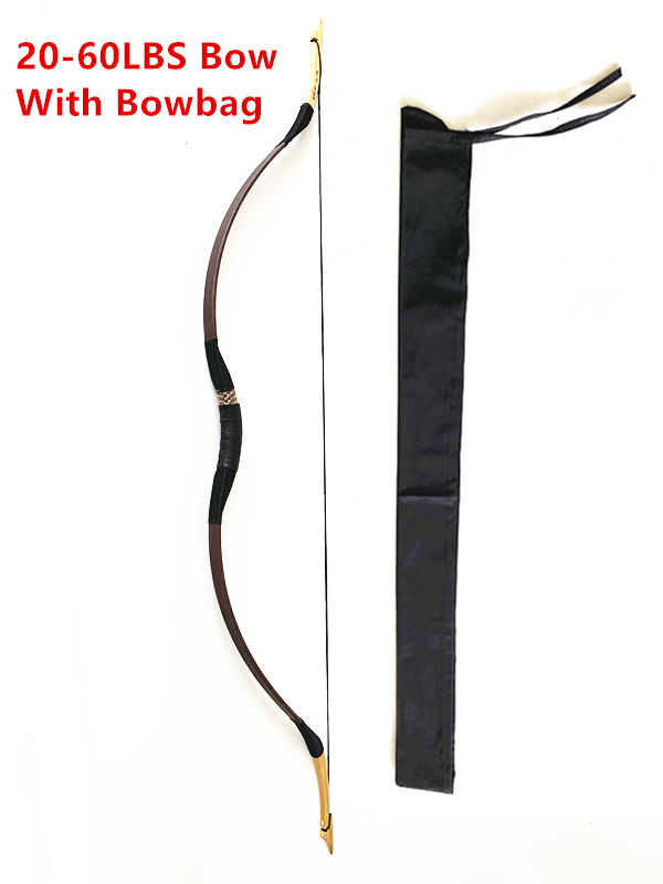 Hand-hloden 30-60lbs Practice Archery Hunting Handmade Wood Traditional Recurve Bow Longbow