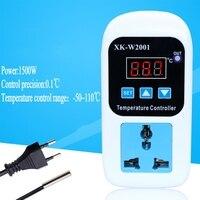 Цифровой светодиодный термометр регулятор температуры Термостат для инкубатора управление микрокомпьютер задержка старт с зондом 110-220 В ...