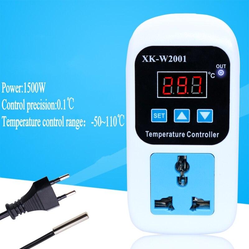 Digital LED Thermometer Temperatur Controller Thermostat Inkubator Steuerung Mikrocomputer Verzögerung starten Mit Sonde 110-220 v 1500 watt