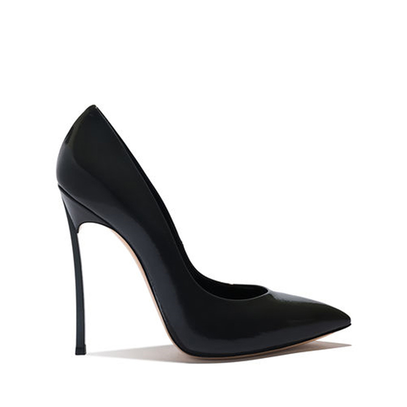 WETKIS Ungewöhnliche Heesl Frauen Pumpen Spitz Slip Auf Flachen Schuhe Patent Pu Pumpen Partei Schuhe Frau Herbst 2019 neue-in Damenpumps aus Schuhe bei  Gruppe 2