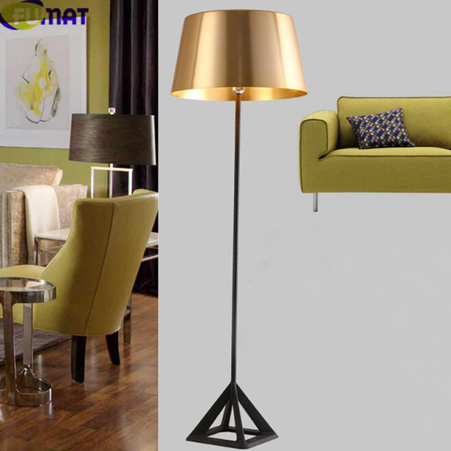 Aliexpress buy fumat gold floor lamps modern standing lamps fumat gold floor lamps modern standing lamps foyer lampara de pie hotel bedroom living room floor aloadofball Image collections