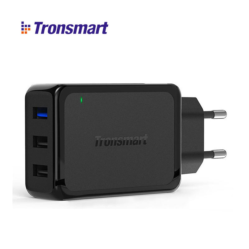 for Qualcomm Certificated Tronsmart W3PTA 3 Port USB Charger Quick Charge 3 0 QC3 0