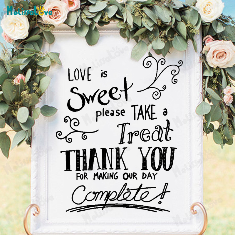 Love is Sweet Floral Wedding Stickers