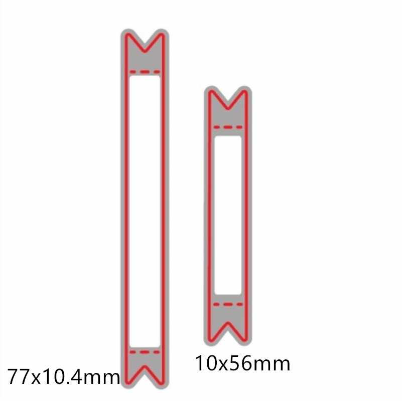 2pcs  Bar Rectangle Tag Frame Metal Cutting Dies Stencil for Scrapbooking Photo Album Paper Cards Making Crafts Dies 2018 new