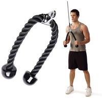 Tricep Rope Push Pull Down Cord Barbell Deluxe Pull Ropes Resistance Bands V Shaped Closed Handle Bodybuilding Exercise Workout