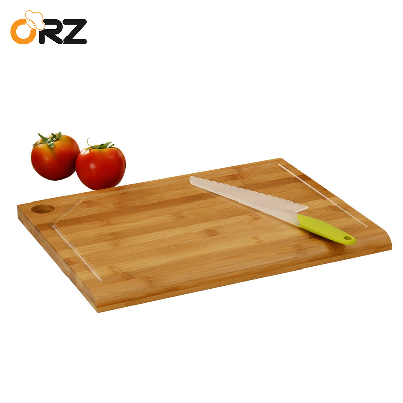 ORZ Bamboo Chopping Board Kitchen Chopping Block Cake Sushi Plate Serving Tray Antibacte ...