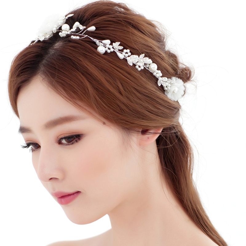 2017 new real Freshwater Pearl Hair Accessories Manual hair bands Bridal Headdress Women jewelry accessories girlfriend gift