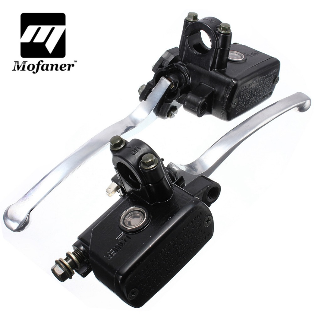 7/8inch 20mm Motorcycle Hydraulic Brake Clutch Lever Master Cylinder Left Right 1 piece left or right 7 8 handlebar motorcycle hydraulic brake master cylinder clutch lever
