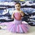 Vestido Del Tutú Del Bebé de la sirena Azul Lavanda Princesa Sirena Verde Púrpura Tutu Dress con Diadema-Bajo el Mar foto prop PT293