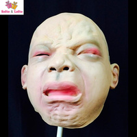 Free Shipping Funny Baby Mask For Adult Rubber Crying Ghost Scary Halloween Party Costume Dress Make