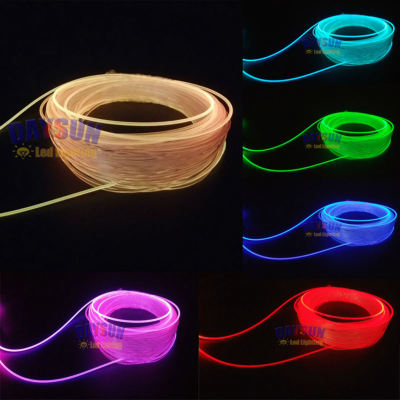 20 Meters Side Glow Optic Fiber Cable Car Atmosphere Light ...