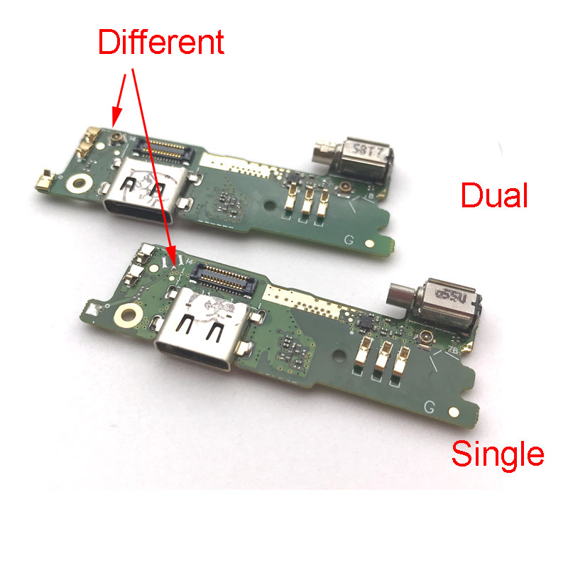 USB Charging Port Flex Cable For Sony Xperia XA1 G3121 G3112 G3125 G3116 G3123 USB Charger Connector Board with Vibrator