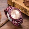 2017 Top Brand Vintage Purple Wood Waches Men Watch With Ebony Bamboo Wood Face With Natural