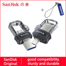 Sandisk usb flash drive 128GB 64GB 32GB 16GB 150mb/s OTG memory Pen drive usb 3.0 32 64 128 256 gb USB flash stick 3.0 pendrive(China)