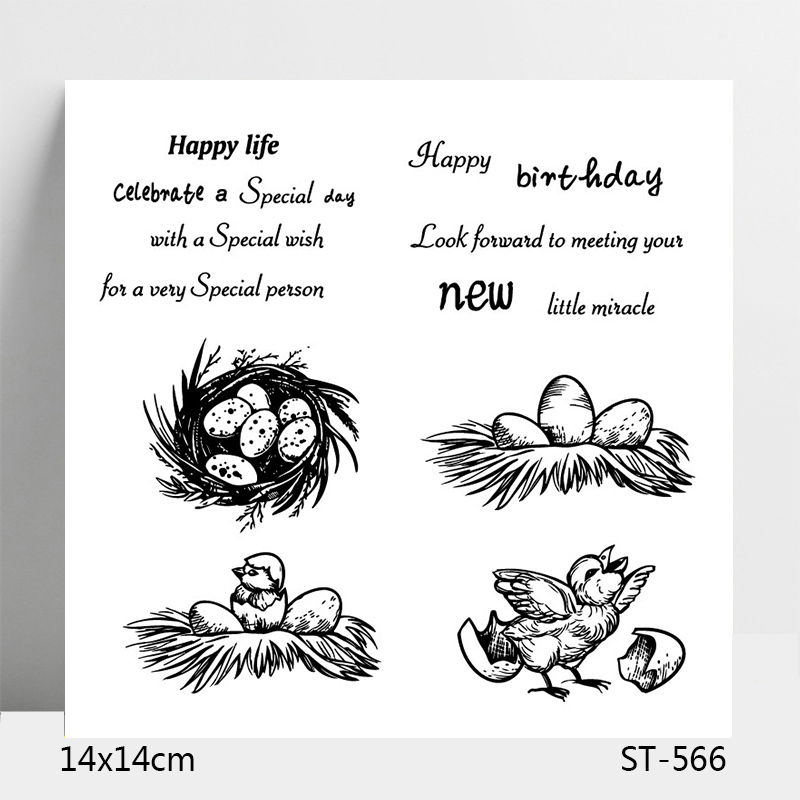 ZhuoAng New Life Happy Birthday Clear Stamps For DIY Scrapbooking Card Making Album Decorative Silicon Stamp Crafts in Stamps from Home Garden