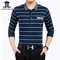 POLO Shirt Men Striped Brand Clothing Full sleeve polo shirt man business polo shirts mens turn down collar Polo Masculina M-3XL