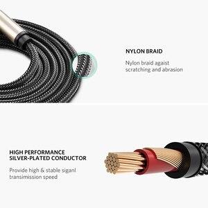 Image 5 - Ugreen 3.5mm için 6.35mm adaptör Aux kablosu mikser amplifikatör CD çalar hoparlör altın kaplama 3.5 Jack 6.5 jack erkek ses kablosu