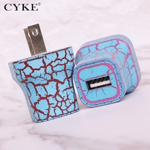 5V 1A Plug one USB Universal mobile phone US format charger Wall AC Power Charger Home or Travel crack pattern testa di carico