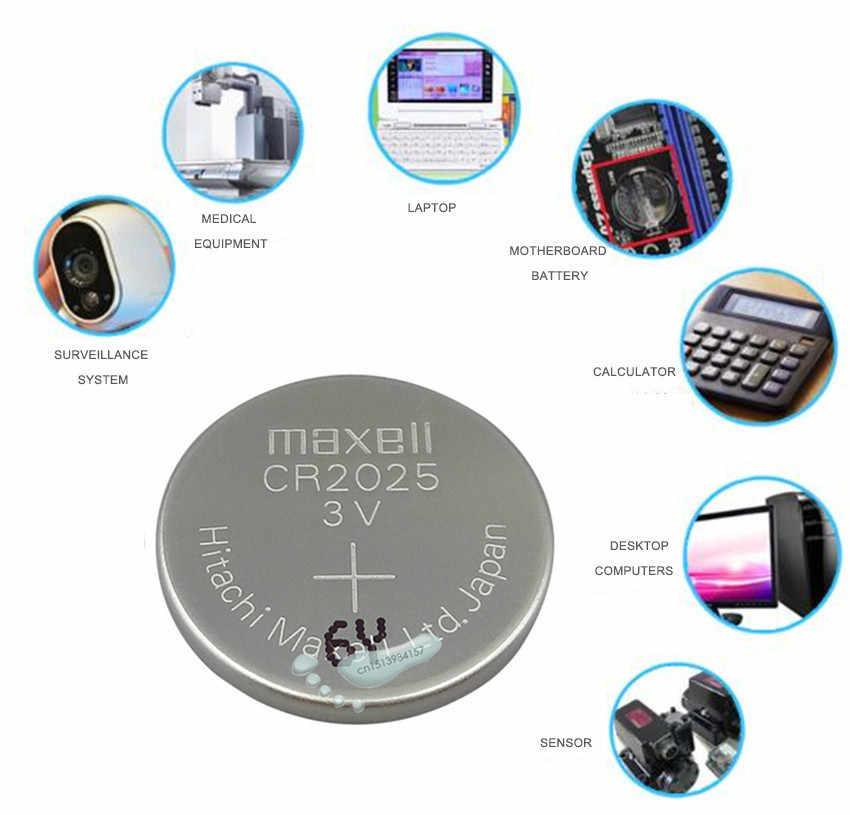 1 pc maxell oryginalny cr2025 baterie komórkowe cr 2025 3 V bateria litowa bateria do zegarka kalkulator waga waga
